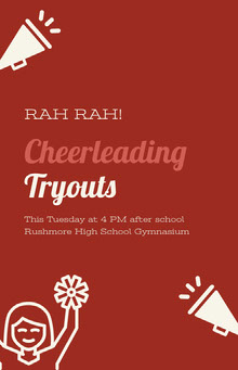Cheerleading Tryouts School Posters