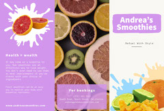 Smoothie Bar Brochure  Fruit