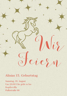 lets celebrate unicorn birthday cards  Geburtstagskarte