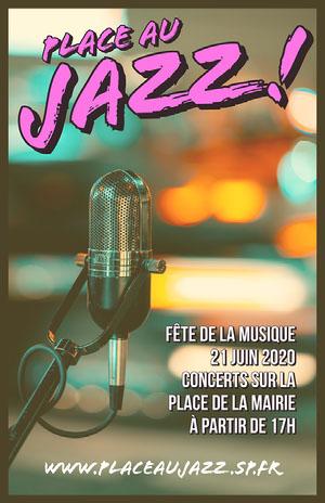 Jazz On The Square Poster Affiche événementielle