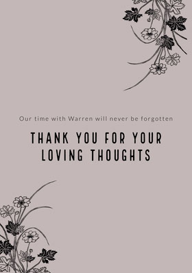 thank you for your loving thoughts