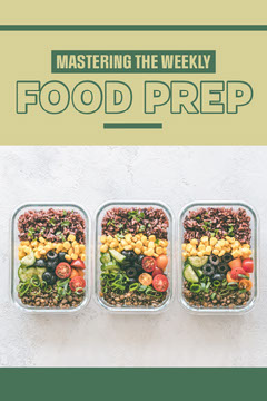Green Food Preparation Pinterest Post  Healthy