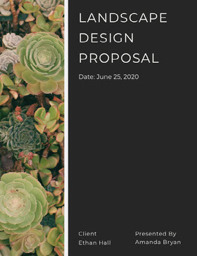 Landscape Design Business Proposal with Plant Photo 提案書