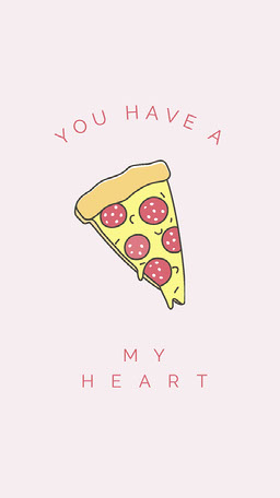 Pink You Have a Pizza My Heart National Pizza Day Instagram Story