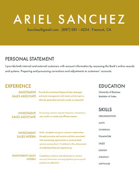 Brown Modern Banker Resume Currículum moderno