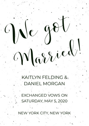We got  Wedding Announcement