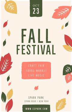 FALL Live Music Flyer