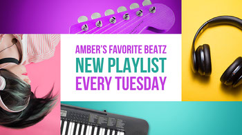 Colorful Music Playlist Youtube Channel Art with Musical Collage YouTube Image Sizes