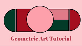 Pink Geometric Art Tutorial Youtube Channel Art Banner do YouTube
