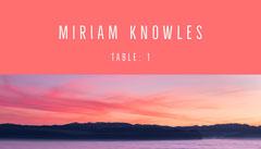 Miriam Knowles Baptism