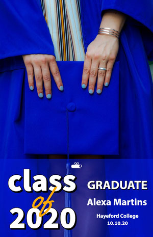 Blue and White Graduation Poster Graduation Poster