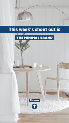 blue white home decor weeks shout out instagram story  Shopping