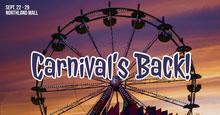 Blue and Orange Carnival Ad Facebook Banner Capa do Facebook