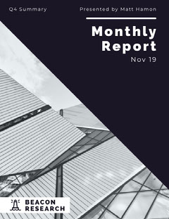 monthly report Black And White
