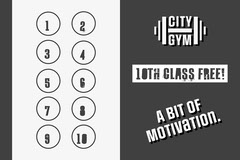 Grey and White Gym Loyalty Card Gym