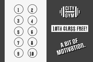 Grey and White Gym Loyalty Card Affiche de motivation