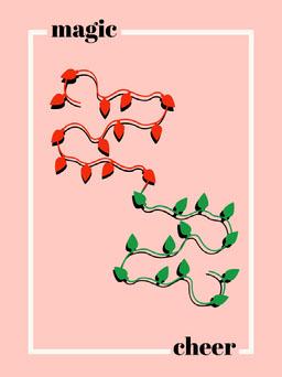 Pink Orange and Green Magic Cheer Card jeff-test-5