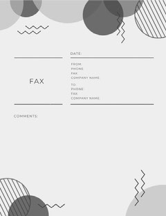 Gray Scale Eighties Fax Cover Sheet  Pattern Design