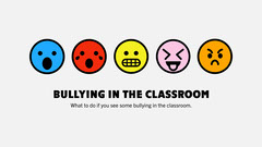 white bright multicolored bullying in the classroom presentation cover widescreen Classroom