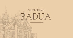 Beige and Black Sketching Padua Facebook Page Cover Italy