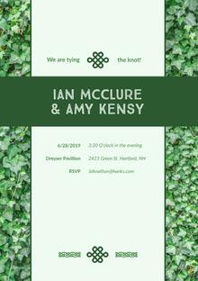 Ian McClure & Amy Kensy  Wedding Invitation