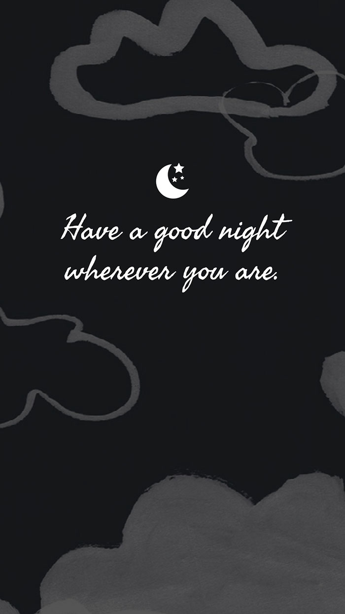 Black White Clouds Good Night Instagram Story  Good Night Messages