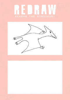 Pink and White Redraw The Dinosaur A4 Worksheet Teacher