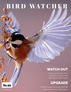 Violet With Bird Magazine Cover Bird