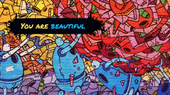 Colorful Graffiti Style Inspirational Desktop Wallpaper Beauty