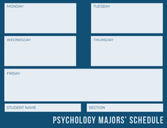 PSYCHOLOGY MAJORS' SCHEDULE  College
