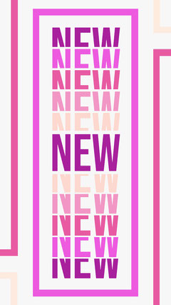 Pink Bright Bold Stacked Text New Product Announcement Pets