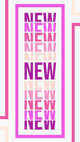 Pink Bright Bold Stacked Text New Product Announcement