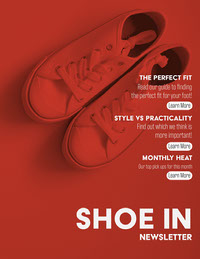 Shoe In Red Newsletter Newsletter Examples