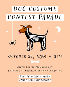 Orange and Black Cute Dog Halloween Costume Contest Poster Halloween Party Invitation