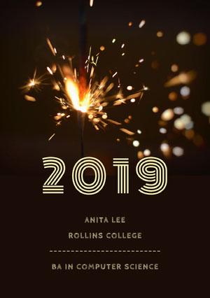 2019 Tarjeta de graduación