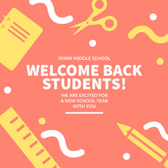 WELCOME BACK STUDENTS! Welcome Poster