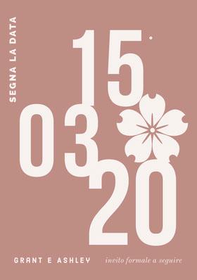modern save the date card  Partecipazione