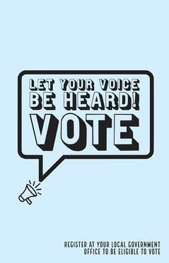 Let your voice be heard voting poster Voting