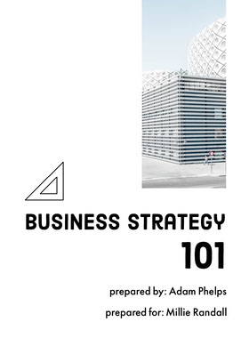 White and Black Business Strategy Proposal 提案書