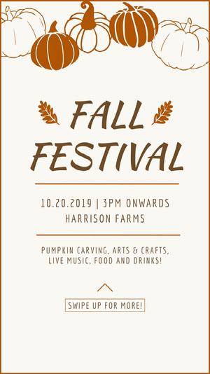 FALL FESTIVAL Music Festival Poster