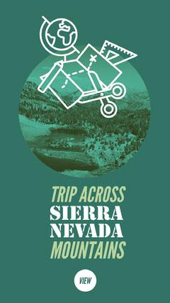 Green Trip Across Sierra Nevada Mountains Instagram Story California