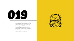 Yellow Hamburger Fast Food Blog Post Graphic Burger