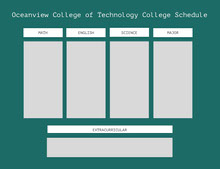 Oceanview College of Technology College Schedule 行程表