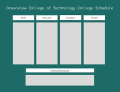 Oceanview College of Technology College Schedule College