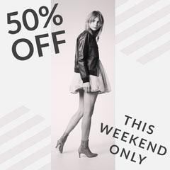 50% OFF Sale Flyer