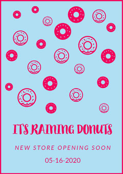IT'S RAINING DONUTS Opening Soon