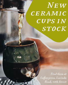 Green Mug New In Stock Instagram Portrait Marketing