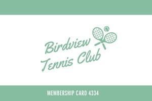 Birdview <BR>Tennis Club  Identiteitskaart