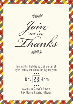 hatched thanksgiving invite Holiday Party Flyer