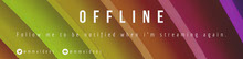 Multicolored Gradient Offline Twitch Banner Twitch-Banner
